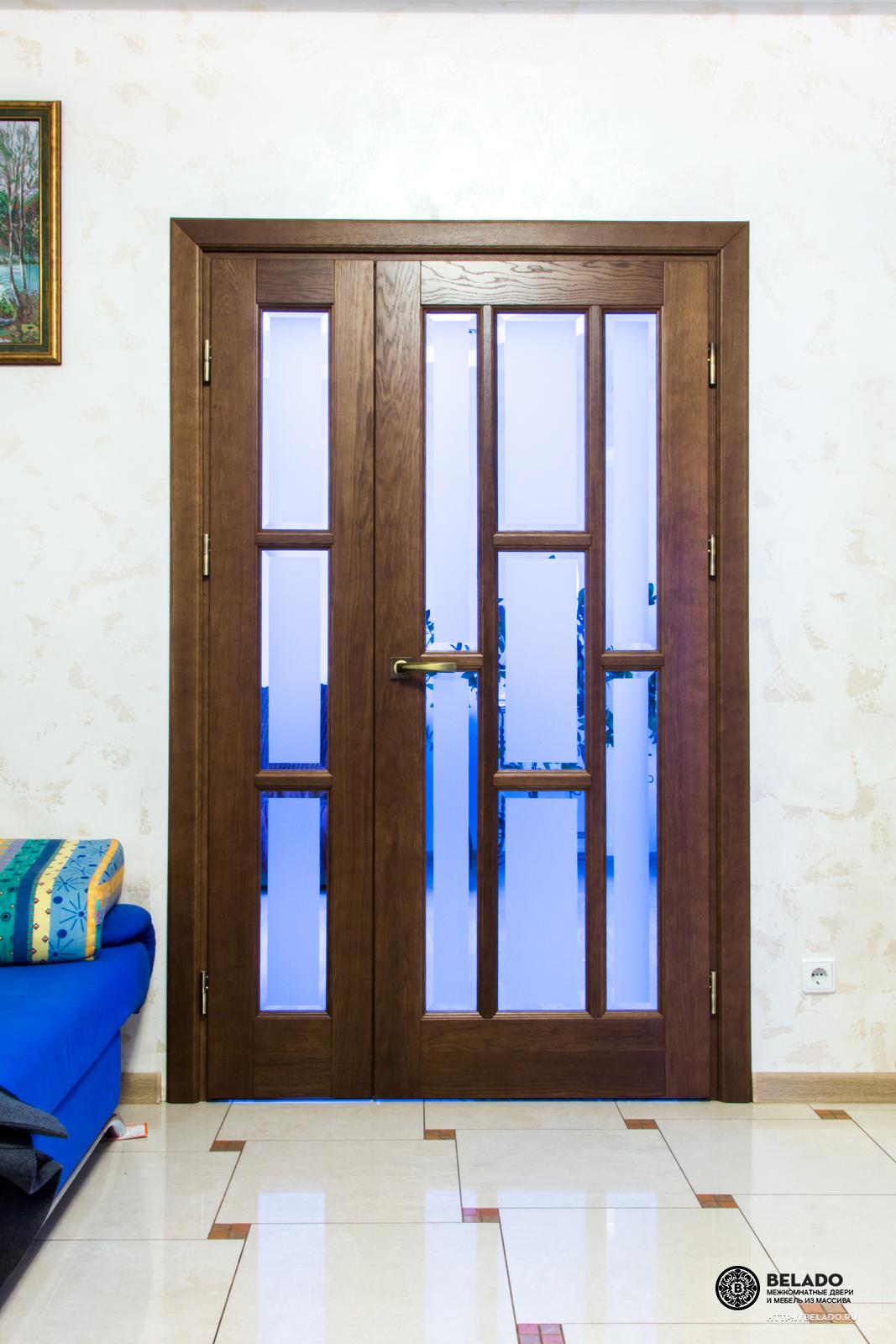 Дверь из массива дуба на заказ купить в СПб